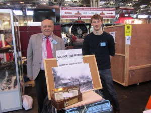 Paul and Tom manning our stand at Warley with 'The Unknown Warrior' looming in the background!
